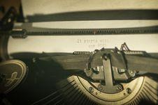 Free Vintage Typewriter Stock Image - 83058001