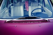 Free Purple Car Hood With Stainless Steel Window Wiper Royalty Free Stock Photography - 83058117