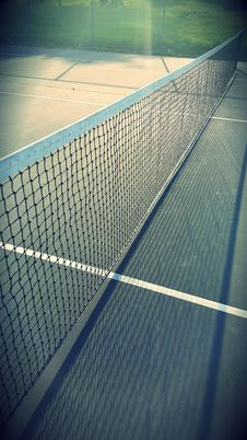 Free White Tennis Net On A Ground Royalty Free Stock Image - 83058136