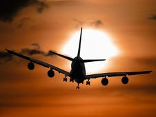 Free Shadow Image Of A Plane Flying During Sunset Royalty Free Stock Images - 83058369