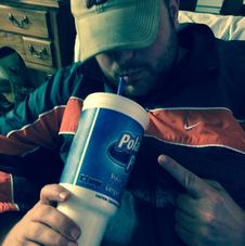 Free Man Drinking Fizzy Drink Through Straw Royalty Free Stock Photos - 83058408