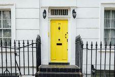 Free Yellow Door Royalty Free Stock Photo - 83058495