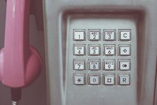 Free Pink And Gray Telephone Royalty Free Stock Image - 83058516