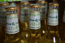 Free Flower Lime Beer Bottle Royalty Free Stock Images - 83058809
