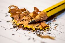 Free Yellow Black Pencil Sharpened Above The White Paper In Macro Photography Stock Photography - 83059222