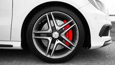 Free Gray And Black Mercedes Benz 10 Spoke Wheel Stock Photo - 83059570