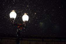 Free Fireflies By Streetlamp Stock Photos - 83059683