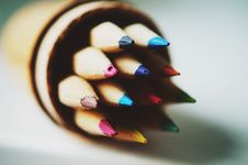 Free Colored Pencil In Tilt Shift Lens Royalty Free Stock Photography - 83059697