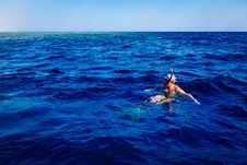 Free Snorkeler In Blue Waters Stock Photos - 83059833