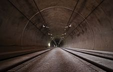 Free Concrete Long Tunnel Royalty Free Stock Photography - 83060157