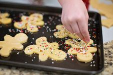 Free Hand Making Christmas Cookies Royalty Free Stock Image - 83060416