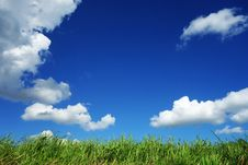 Free Clouds In Blue Sky Over Field Stock Photography - 83060482