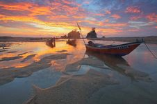 Free Low Tide During Sunset Royalty Free Stock Image - 83060806