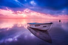Free Wooden Boat At Sunset Stock Photos - 83060843