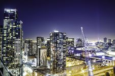 Free Night Time Photo Of Skyline City Royalty Free Stock Photography - 83060877