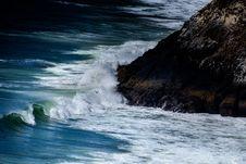 Free Big Waves Beside Seashore Beside Black Rock Stock Image - 83060991