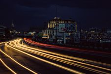 Free Timelapse Photography Of Street With Vehicle Moving During Night Time Royalty Free Stock Photos - 83061128