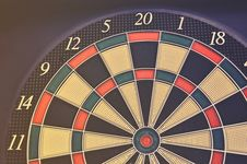 Free Red Green And Black Dartboard Royalty Free Stock Image - 83061136