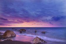 Free Beige And Black Huge Rock On Seashore Stock Image - 83061441