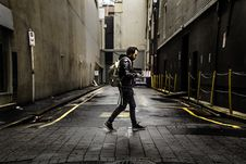 Free Man On City Streets Stock Photography - 83061622