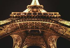 Free Eiffel Tower, Paris, France At Night Stock Photos - 83061643