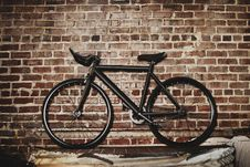 Free Bicycle And Brick Wall Background Stock Image - 83061711