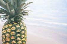 Free Pineapple On Beach Royalty Free Stock Images - 83061879