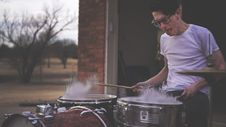 Free Person Playing On Drums During Daytime Stock Photo - 83062230