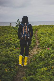 Free Backpacker On Path Stock Photo - 83062290