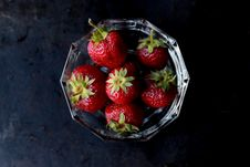 Free Strawberries On Clear Glass Bowl Stock Photos - 83062333