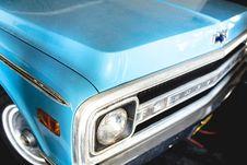 Free Blue Chevrolet Truck Stock Image - 83062471