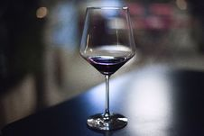 Free Stemmed Glass On Bar Royalty Free Stock Photography - 83062527