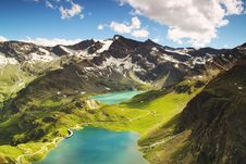 Free Aerial View Of Alpine Lakes, Turin, Italy Royalty Free Stock Photography - 83062707