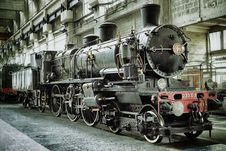Free Black And Red Metal Train Stock Photos - 83062783