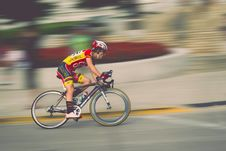 Free Bike Rider In Race Royalty Free Stock Images - 83062849