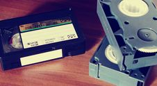 Free 3 Vhs Tape On Top Of Table Stock Photo - 83062860