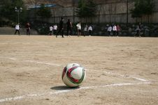 Free White Red And Green Ball Near Group Of People Playing Soccer Royalty Free Stock Photos - 83062948