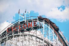 Free Cyclone Roller Coaster Ride Stock Image - 83063021