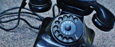 Free Black Rotary Telephone At Top Of Gray Surface Royalty Free Stock Photography - 83063137