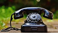 Free Selective Focus Photography Of Black Rotary Phone Royalty Free Stock Images - 83063169