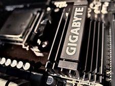 Free Gigabyte Black Motherboard Stock Photography - 83063212