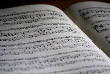 Free Printed Musical Note Page Royalty Free Stock Photo - 83063345