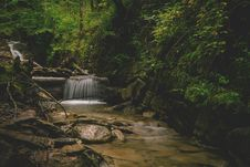 Free Forest And Water Falls Landscape Photo Stock Photos - 83063503