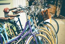 Free Row Of Bicycles  Royalty Free Stock Photo - 83063635