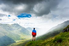 Free Man On Hillside Stock Photo - 83063960