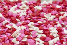 Free Selective Focus Of White Red And Pink Hearts Sprinkles Royalty Free Stock Images - 83064059