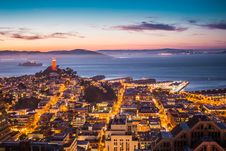 Free Sky View Of City During Sun Set Stock Images - 83064144