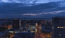 Free Top View Of City During Night Time Royalty Free Stock Images - 83064219