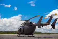 Free Military Helicopter On Pad Royalty Free Stock Images - 83064349
