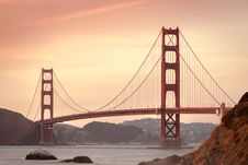 Free Golden Gate Bridge, San Francisco, CA At Sunset Stock Photos - 83064443